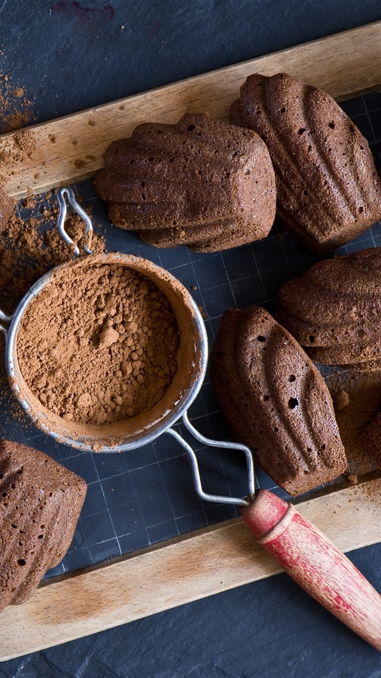 Wallpaper Cocoa Powder Biscuits 1920x1200 HD Picture Image