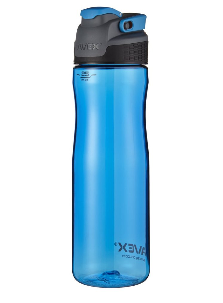 the cleaver best water bottle, the bottle is blue and has a lot of cool features.