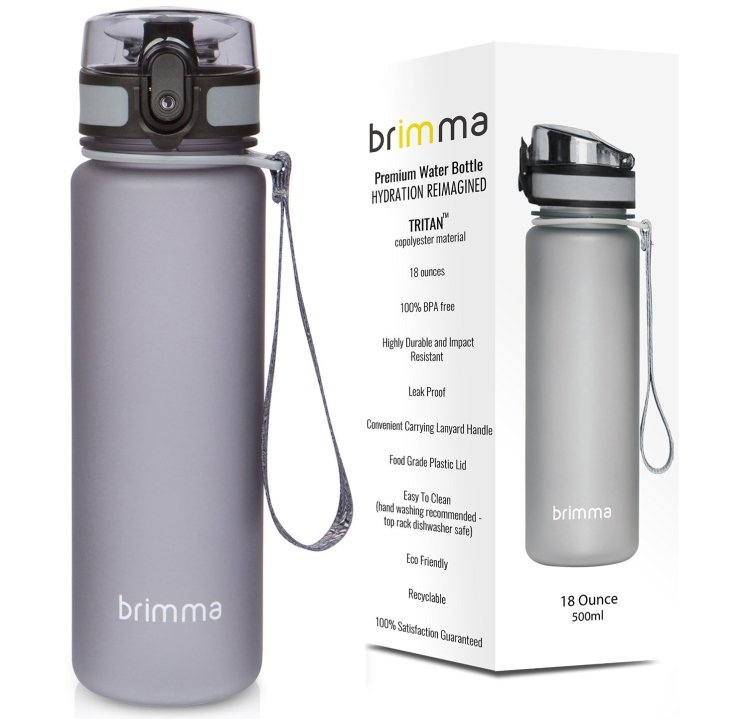 the cool grey brimma water bottle