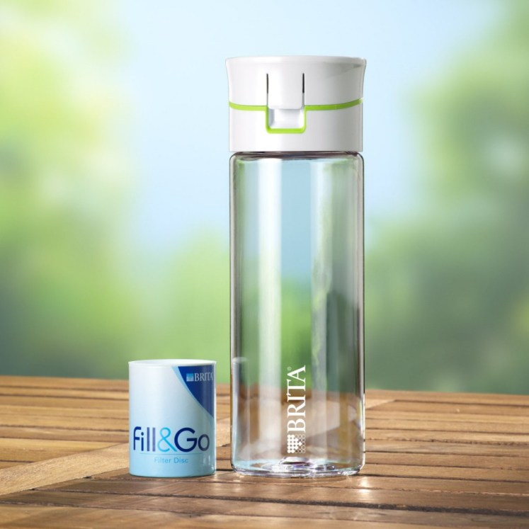 Brita fill and go, outside, the this bottle is the best filtered bottle for those on a budget.