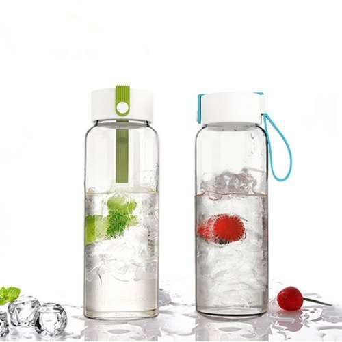 Just Life glass water bottle
