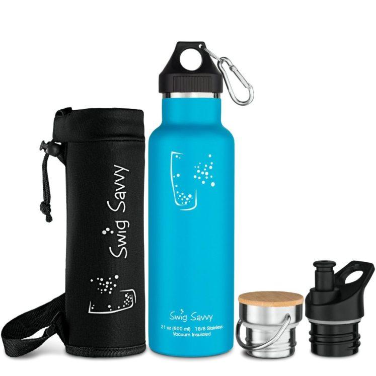 Swig Savvy blue bottle