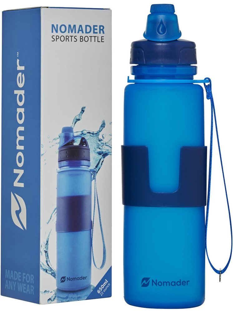 in blue, this is the best workout water bottle.