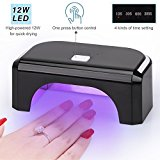 KEDSUM 12W LED Nail Lamp Curing Lamp One Button Control 10s, 30s, 60s And  300s With Auto Shutoff Nail Dryer ...