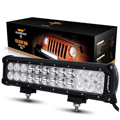 Top 10 best led light bar 2018 best 10 best auxbeam led light bar 12 72w cree led light 24pcs 3w cree driving light combo beam waterproof for off road 44 truck military mining heavy equipment aloadofball Choice Image