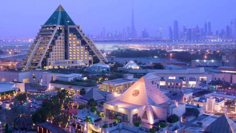 Hotel Raffles is a pyramid-shaped hotel