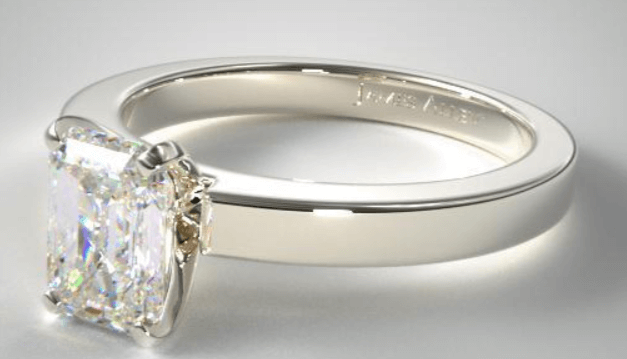 Solitaire Ring Setting With Cushion Cut Diamond