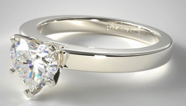 Solitaire Ring Setting With Heart Shape Diamond