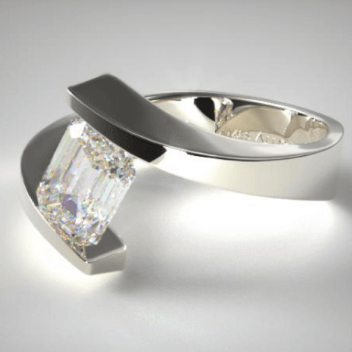Modern-Tension-Ring-Setting-With-Emerald-Shape-Diamond