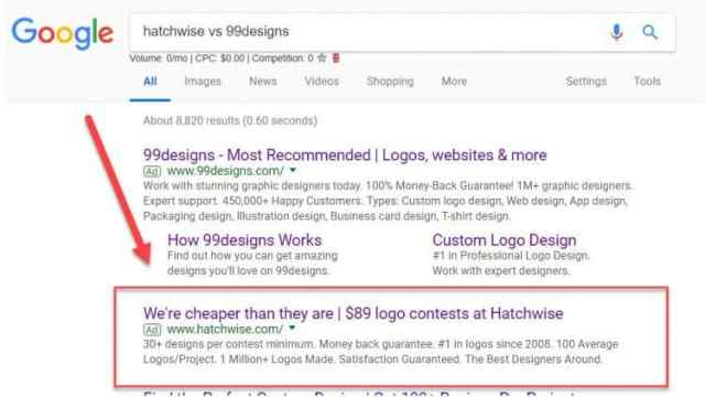 compare hatchwise to 99designs logo packages