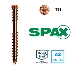 Spax Wkręt tarasowy ze stali nierdzewnej A2 - STARE ZŁOTO