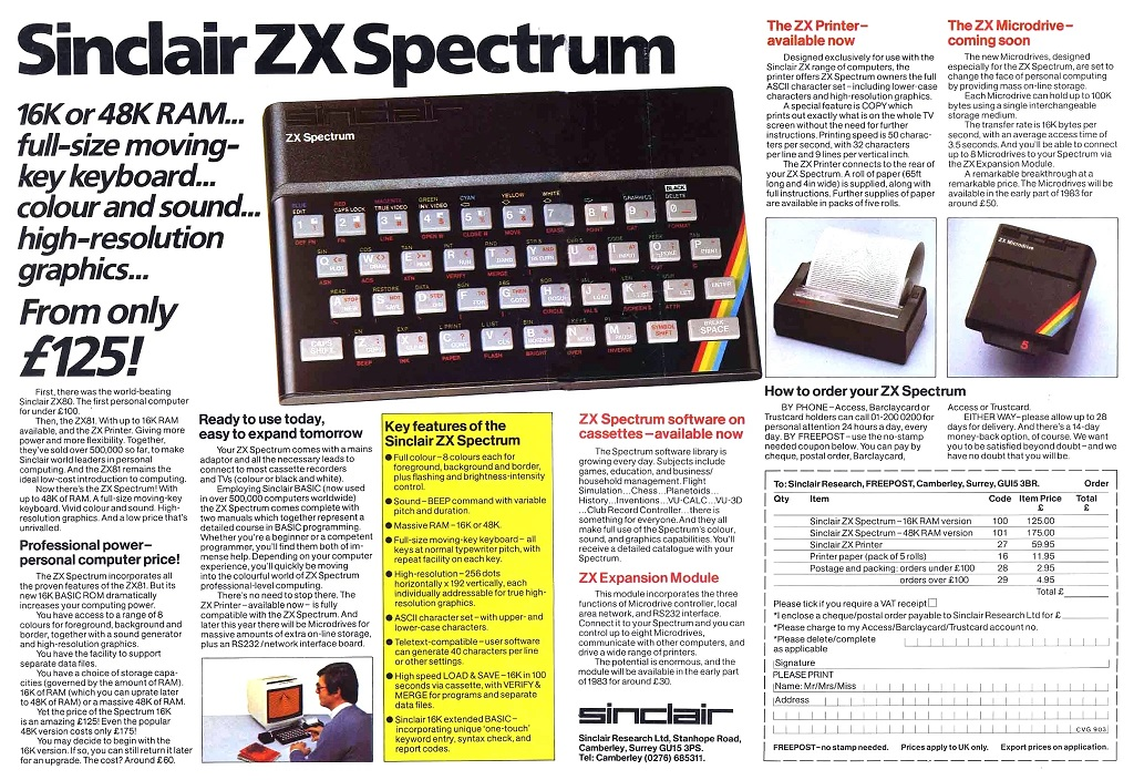 Sinclair ZX Spectrum 48k Home Computer – Vintage Tech