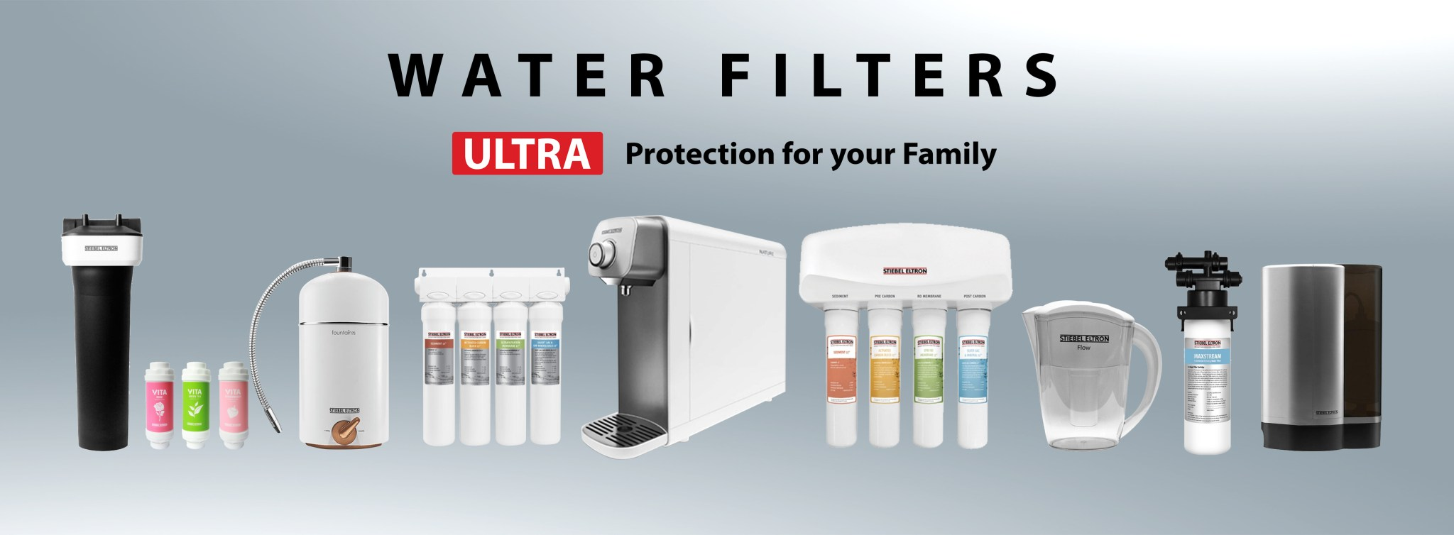 water filter header