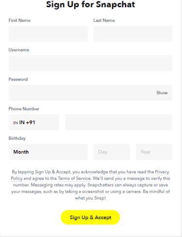 Click Sign Up & Accept