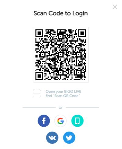 Scan Code to Login