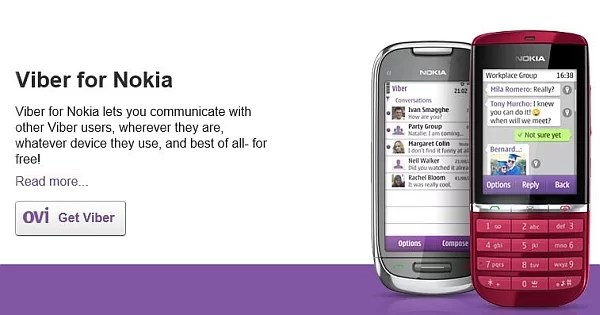 Viber for Nokia – Java/ Windows/ Android OS Download