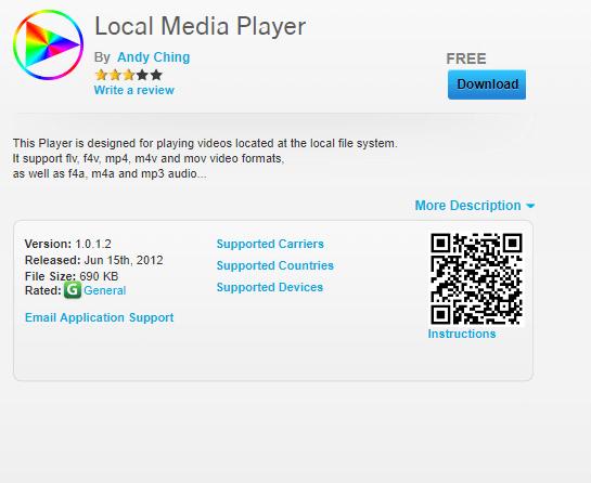 MX Player for BlackBerry OS - Alternative