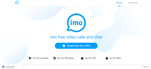 Select imo for Windows link