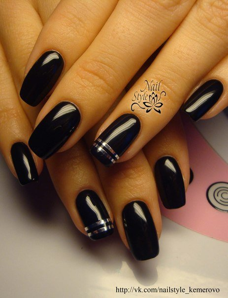 Well Fashions With Black And White Nail Art Design On Collection X7jh In