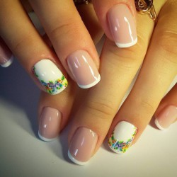 Summer French Nails 2016 Photo