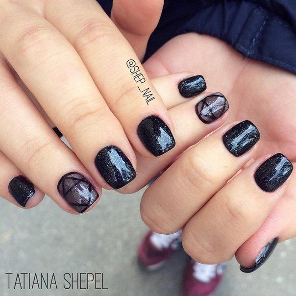 Black Nail Art Images