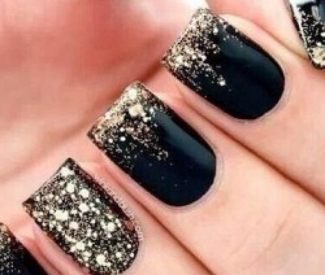 Black Shellac Nails Photo