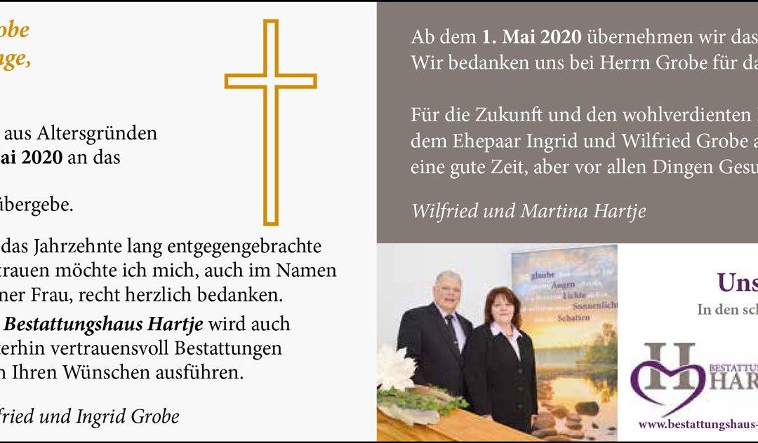 Übernahme Bestattungshaus Wilfried Grobe