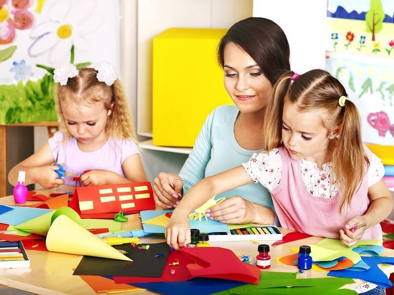child care with mom