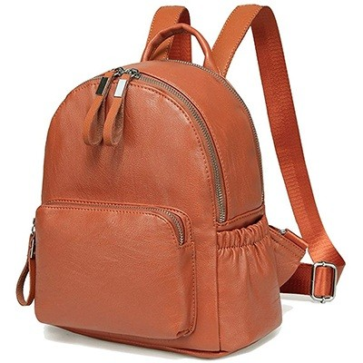 Vaschy Faux Leather Mini Backpack Purse For Women