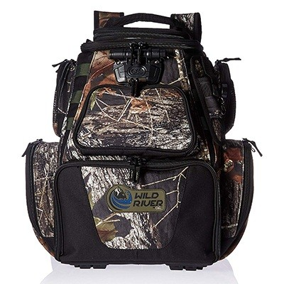 Custom Leathercraft Wild River By CLC 604 Tackle Tek Nomad LED Lighted Camo Backpack