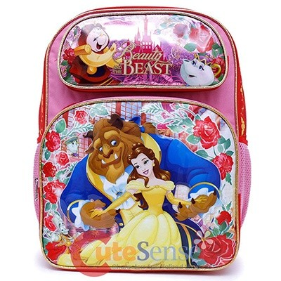 Disney Beauty And The Beast School Backpack Large Belle Girls Book Bag