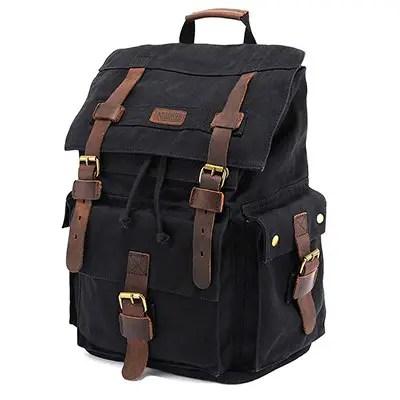Kattee мужская кожа холст рюкзак