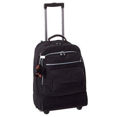 Kipling Women's Sanaa Black Rolling Backpack