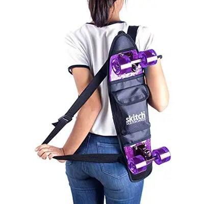 "Skitch Skateboards Backpack For All 22"" Cruiser Boards"