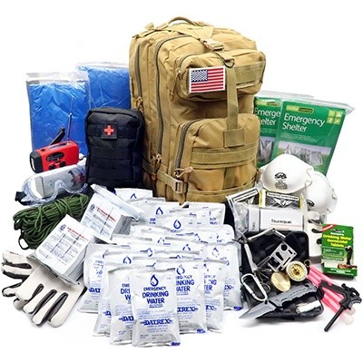 Everlit Earthquake Emergency Kit 72-Hour 2 Person Survival Kit