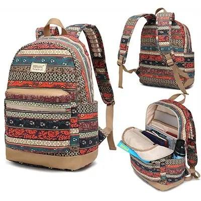 2afcdd2c40a8 Best For Women. Kinmac Bohemian Water Resistant Laptop Backpack ...