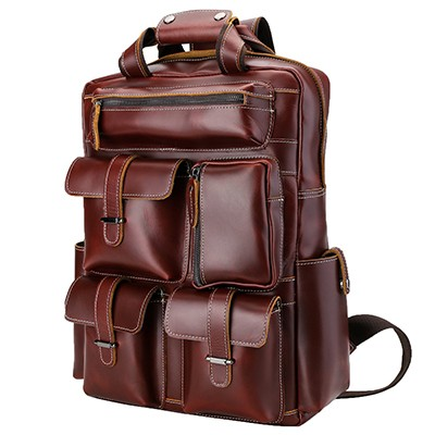 Polare Men's Handcrafted Leather Backpack