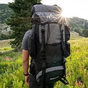 man wearing a teton backpack