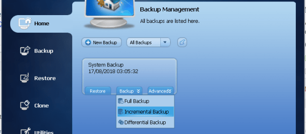 How to Perform Incremental Backup on AOMEI Backupper Pro