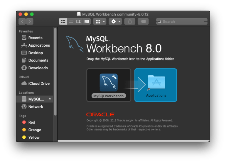 Install MySQL Workbench 8.0 on Mac OS X Mojave