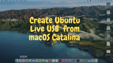 How to Create Ubuntu 20.10 Live USB from macOS Catalina