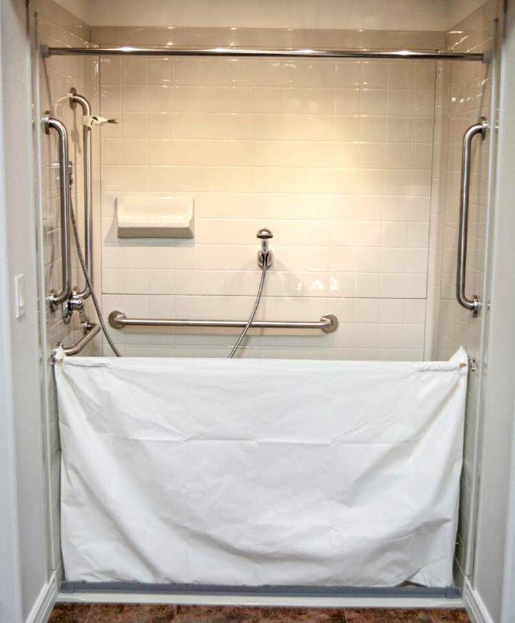 heavy duty vinyl attendant shower