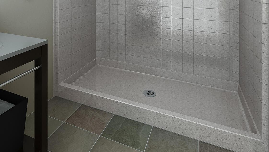 Shower Pans Shower Bases Barrier Free Low Step Shower Bestbath
