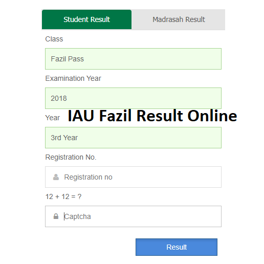 Islamic Arabic University IAU Fazil Result 2021