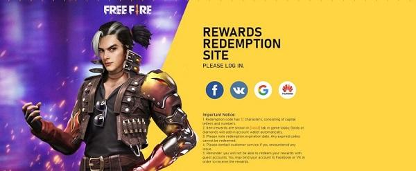 Garena Free Fire Redeem Codes For Today
