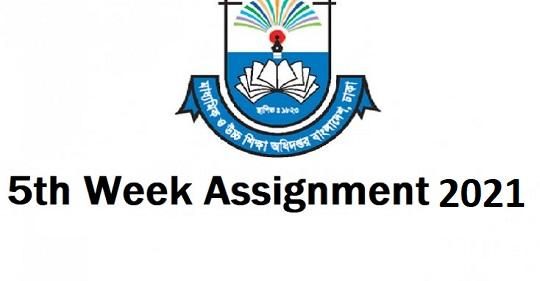 6th Week Class 6,7,8 & 9 Assignment Answer 2021