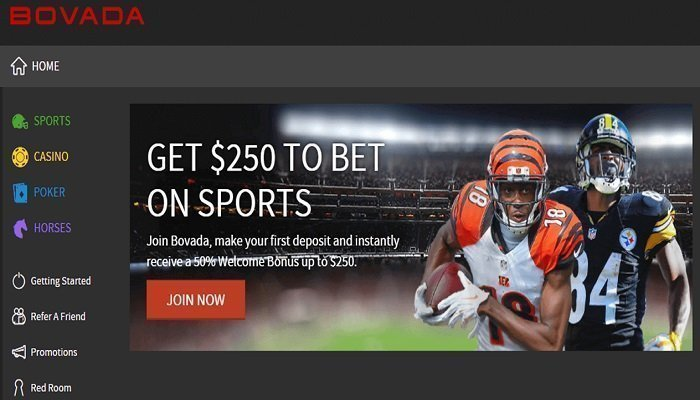 big sign up bonus at Bovada bookmaker