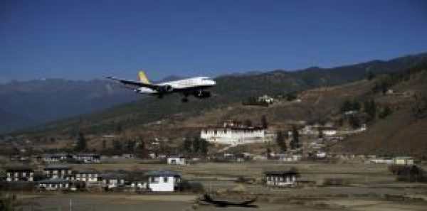 Paro valley and airport