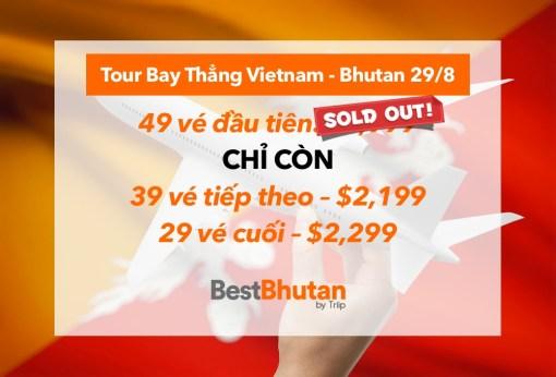 Khám Phá Bhutan 6N5Đ, Đặc Biệt Bay Thẳng Từ TP.HCM (29/8 – 03/9)