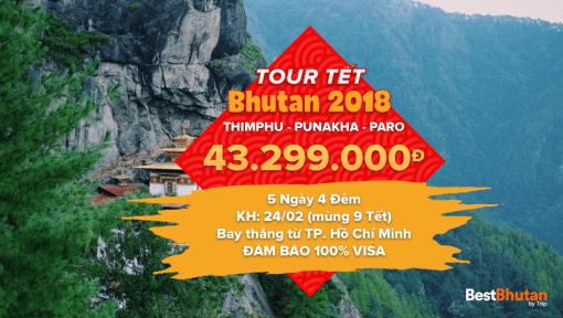 Khám phá văn hóa Bhutan 5N4Đ Thimphu – Punakha – Paro. Bay thẳng từ TP. HCM, Việt Nam (24/02/2018 – 28/02/2018)